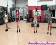 Real Party Teens In Gym - scene 4