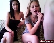 Two Girls 2 Dildos And 1 Cock - scene 1