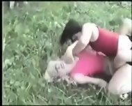 Kristy Vs Amanda Extreme Catfight Girlfight Hairpulling - scene 8