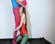 Hairy Lesbians In Nylon Pants Sex - scene 4
