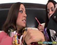 Teen Step Sis Lesbo Trio - scene 5