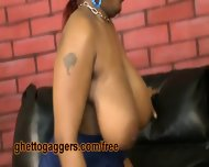 Big Titty Black Ho Deepthroats A Clown - scene 1
