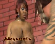 Big Titty Black Ho Deepthroats A Clown - scene 12