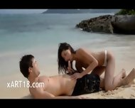 Extremely Hot Lovers Fuck On The Beach - scene 1