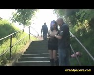 Grandpa Fucks Teen In Public - scene 5