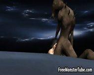 3d Cartoon Babe Fucked On The Moon By An Alien - scene 1