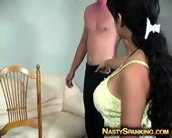 Nasty Females Spanking Guy Ass - scene 3