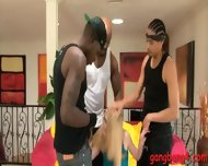 Slutty Nat Turnher In Glasses Gangbanged By Big Black Boners - scene 3