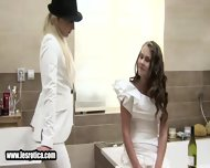 Sexy Lesbian Bride Getting Her Wet Pussy Licked - scene 3
