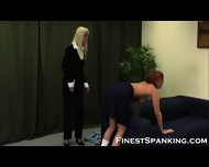 Restricted And Spanked Naughty Girls - scene 9