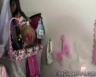Kinky Schoolgirl Takes Off Her Gf Diaper To Play With That Pussy - scene 1