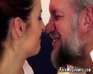 Horny Gramps Enjoys Flat Teen Hottie - scene 1
