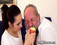 Horny Gramps Enjoys Flat Teen Hottie - scene 2