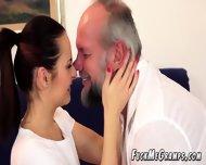 Horny Gramps Enjoys Flat Teen Hottie - scene 3
