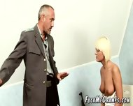 Aged Guy Plays Pervert Scene With Young Blonde - scene 4