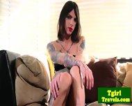 Tgirl Chelsea Marie Puts Dildo In Ass - scene 1