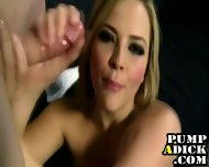 Blonde Handjob Slut - scene 10