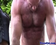 Mature Daddy Bear Bangs His Tattooed Gardener - scene 11