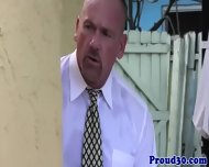 Mature Daddy Bear Bangs His Tattooed Gardener - scene 2