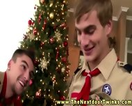 Twink Boy Scouts Christmas Blowjob - scene 4