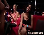 Interracial Blowjobs For Strippers From Amateur Babes At Cfnm Party - scene 9