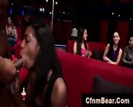 Interracial Blowjobs For Strippers From Amateur Babes At Cfnm Party - scene 10