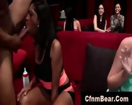 Interracial Blowjobs For Strippers From Amateur Babes At Cfnm Party - scene 11