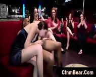 Interracial Blowjobs For Strippers From Amateur Babes At Cfnm Party - scene 2