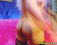 Blonde Shemale Webcam With Dildo - scene 2
