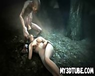 3d Brunette Babe Sucking On Gollum S Cock In The Woods - scene 8