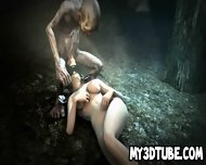 3d Brunette Babe Sucking On Gollum S Cock In The Woods - scene 9