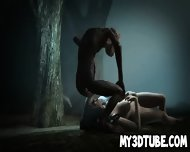 3d Brunette Babe Sucking On Gollum S Cock In The Woods - scene 11