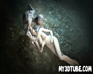 3d Brunette Babe Sucking On Gollum S Cock In The Woods - scene 12