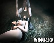 3d Brunette Babe Sucking On Gollum S Cock In The Woods - scene 6
