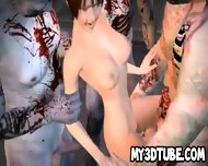 3d Cartoon Babe Gang Banged Outdoors By Zombies - scene 9