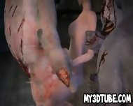 3d Cartoon Babe Gang Banged Outdoors By Zombies - scene 10