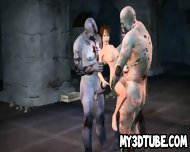 3d Cartoon Babe Gang Banged Outdoors By Zombies - scene 4