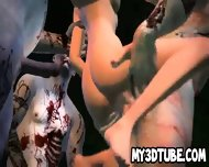 3d Cartoon Babe Gang Banged Outdoors By Zombies - scene 6