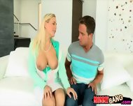 Nasty Milf Threesome With Young Couple On The Couch - scene 2