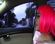 Costumed Teen Fucking In The Car In Public - scene 2