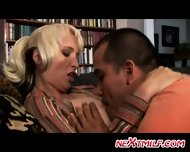 Blonde Divorcee Enjoys Some Attention - scene 4