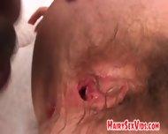 Hairy Pussy Slut Does Big Black Dong - scene 11