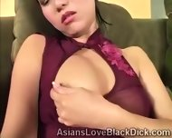Asian Petite Trains Her Little Pussy With A Huge Dildo - scene 1