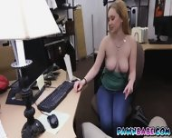 A Little Blonde Babe Banged For A Pearl Necklace On Display In The Pawnshop - scene 3