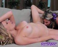 Very Sexy Blonde Milfs Sloww Licking - scene 8