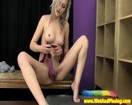 Urinedrinking Blonde Beauty In Hot Longsocks - scene 8