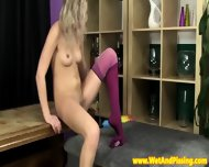 Urinedrinking Blonde Beauty In Hot Longsocks - scene 7