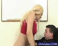 Hot Young Blonde Fucked After School - scene 11