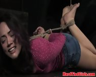 Bdsm Sub Kristina Rose Getting Hogtied