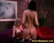 Blonde Doing A Otk Spanking With Girlfriend - scene 10